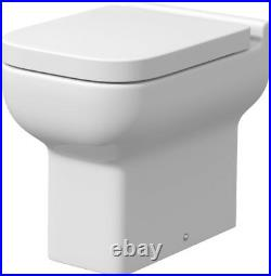 500mm Bathroom BTW Toilet Soft Close Seat Furniture Unit Pan Gloss Grey Modern