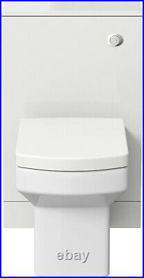 500mm Bathroom Toilet Concealed Cistern Furniture Unit Pan Soft Close Seat White