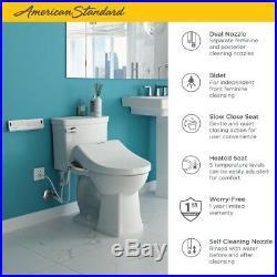 American Standard Advanced Clean Electric Bidet Seat Elongated Toilet White New