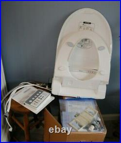 BIO BIDET PERSONAL HYGIENE TOILET SEAT BB-1000 SUPREME ELONGATED WHITE w REMOTE