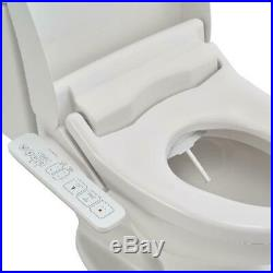Bidet Seat Toilet Conversion with Side Controller Electric Heated Convert White
