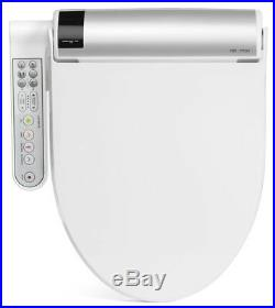 Bio Bidet BLISS BB-1700 Elongated White Contoured Panel Bidet Toilet Seat NEW