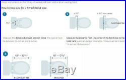 Brondell Bidet Seat S300-RW Swash Round, White New