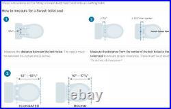 Brondell Bidet Seat S300-RW Swash Round, White New Open Box