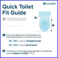 Brondell DS725 Advanced Electric Bidet Toilet Seat Round White + Remote