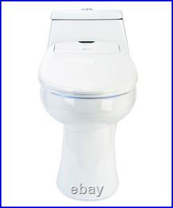 Brondell Swash 1200 Luxury Electric Bidet Toilet Seat in Round White + Remote