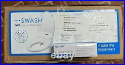Brondell Swash 1400 Luxury Bidet Toilet Seat Round White + Remote + Filter