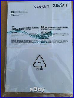 Duravit 6100000010 SensoWash Starck 20 1/4 Plastic Toilet Seat & Cover NIB