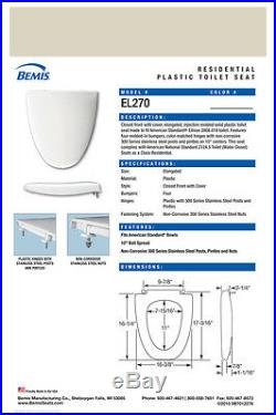 EL270-006 Proprietary Toilet Seat for American Standard BONE