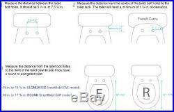 Electric Bidet Heated Seat Round Toilets Remote Control Multi-Wash White Plastic