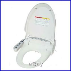 Electric Bidet Seat Round Toilet with Dryer Magic Clean SPT White