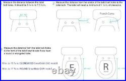 Electric Bidet Seat Warm Water Wash Heated Seat for Elongated Toilets in White