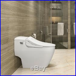 Electric Bidet Seat for Round Toilets in White with Fusion Heating Technology