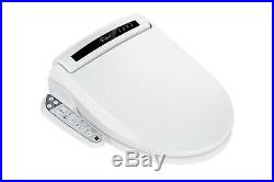 Empava Heated Toilet Seat with Warm Air Dryer and Wash Functions in White