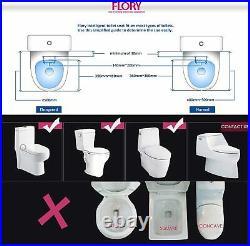 FLORYEU Bidet Electric Digital Intelligent Toilet Seat UK-STANDARD FDB600