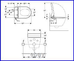 Geberit Aqua Clean Tuma Comfort Shower Wc Seat 146.278.11.1 Incl. Remote Control