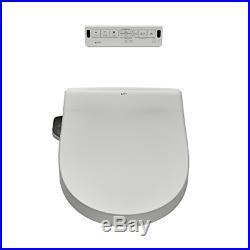 Heated Shower Toilet Bidet Seat with Remote Control + Dual Nozzle White