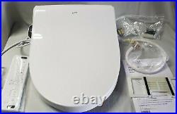 Inax Heated Bidet Seat Advanced Clean Elongated Bidet- White