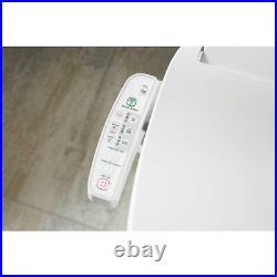 KOHLER Electric Bidet Seat Elongated Toilet Deodorizing Heated Air Dryer White