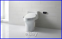 KOHLER Electric Bidet Toilet Seat, Touchscreen Remote Control, Heated seat, and