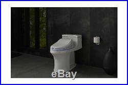 KOHLER K-4737-0 C3 125 Elongated Warm Water Bidet Toilet Seat in White with A