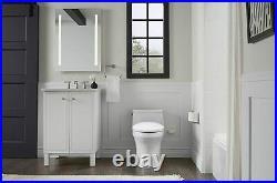 KOHLER PureWarmth Heated Elongated Toilet Seat LED Nightlight Soft Close White