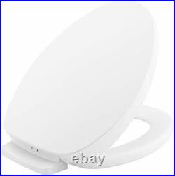 KOHLER White Elongated Heated Toilet Seat Quiet-Close Lid & Seat LED Nightlight