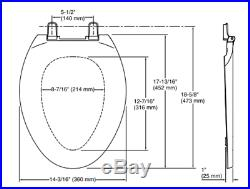 Kohler Lustra Elongated Toilet Seat 4652-47 ALMOND
