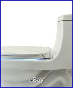 LumaWarm Heated Electric Warm Toilet Seat Nightlight Elongated, Biscuit, New