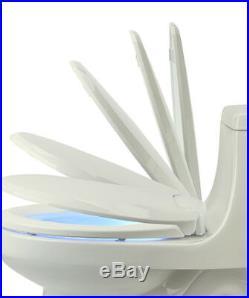 LumaWarm Heated Electric Warm Toilet Seat Nightlight Round, Biscuit, New