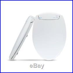 LumaWarm Heated Electric Warm Toilet Seat Nightlight Round, White, New