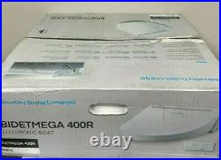 New Coway Bidetmega 400R Round Electronic Bidet Seat Warm Air Dryer WHITE