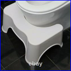 Non Slip Shower Toilet Step Stool Avoid Constipation Feet Platform White