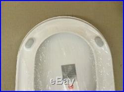 Porcher 70070-00.001 Salangane Elongated TOILET Seat, White Finish, CHROME