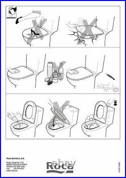 ROCA GIRALDA WC Toilet Seat & Cover Regular Hinges A801461004 White