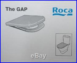 ROCA The GAP Toilet Seat & Cover Easy Release and Soft Closing Hinges A80148200U