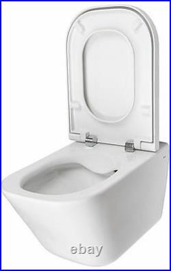 ROCA The Gap Wall Hung Rimless WC Toilet Pan Cleanrim