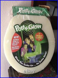 Rare Vintage Potty Glow Toilet Seat Glow In The Dark Toilet Seat NEW Sealed