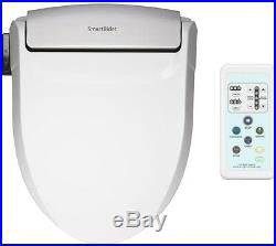 SmartBidet Electric Bidet Seat Elongated Toilet White Bathroom Plastic
