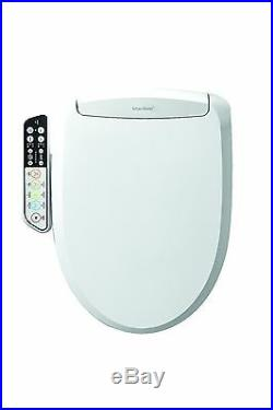 SmartBidet SB-110 Electric Bidet Warm Toilet Seat for Elongated Toilets White