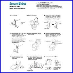 SmartBidet SB-3000 Electric Bidet Toilet Seat for Elongated Toilets with remote