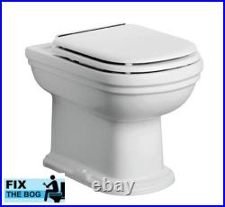 Sottini Genuine Reprise Toilet Seat with Cover in white with Chrome Hinges
