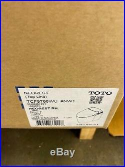 TOTO Neorest RH Elongated Washlet Bidet Toilet Seat SN988M#01 (TOP UNIT)
