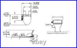 TOTO SW2034-01 Washlet C100 Elongated Bidet Toilet Seat, Cotton White