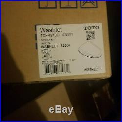TOTO SW3054#01 S550E Elongated Washlet Cotton White