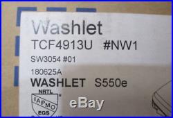 TOTO SW3054#01 S550e WASHLET Electronic Bidet Toilet Seat, Elongated
