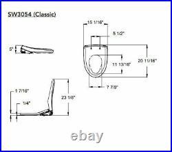 TOTO SW3054-01 Washlet S550e Elongated Bidet Toilet Seat with ewater+, Cotton