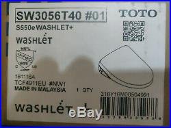 TOTO SW3056T40#01 S550E Elongated Bidet with EWATER+ White