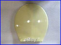 (TS-05) Vintage Marigold 2nd Olsonite Toilet Seat, Hwd & Lid Round Reg. Bowl