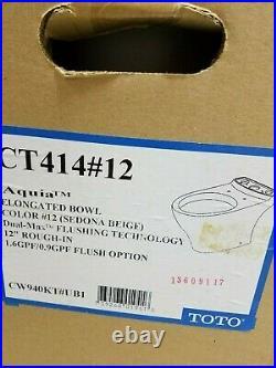 Toto Ct414#01 Aquia Sedona Beige Elongated Bowl Complete Toilet